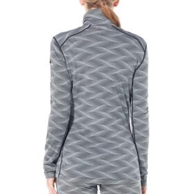 Icebreaker 200 Oasis LS Half Zip Curve Shirt Women Black/Snow
